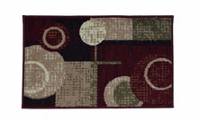 Geometric Thin Door Mat Entry Rug - Circular Blinks - The White Rose USA