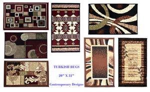 "Geometric Small Rugs (20"" x 31"") Turkish, Stylish, for Home