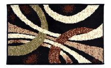 Geometric Thin Door Mat Entry Rug - Curves Party - The White Rose USA