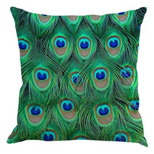 Peacock Feather Decorative Pillow Case | Cushion Cover