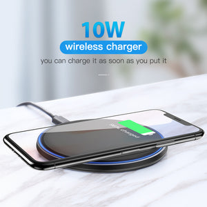 Wireless Charger For iPhone 11 X XS Max XR 8 Plus Samsung S9 S10+ Note 9 8 (10W Qi)