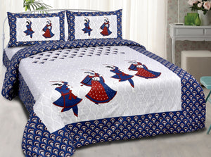 Premium RAAS Cotton Bedsheet with Pillow Covers