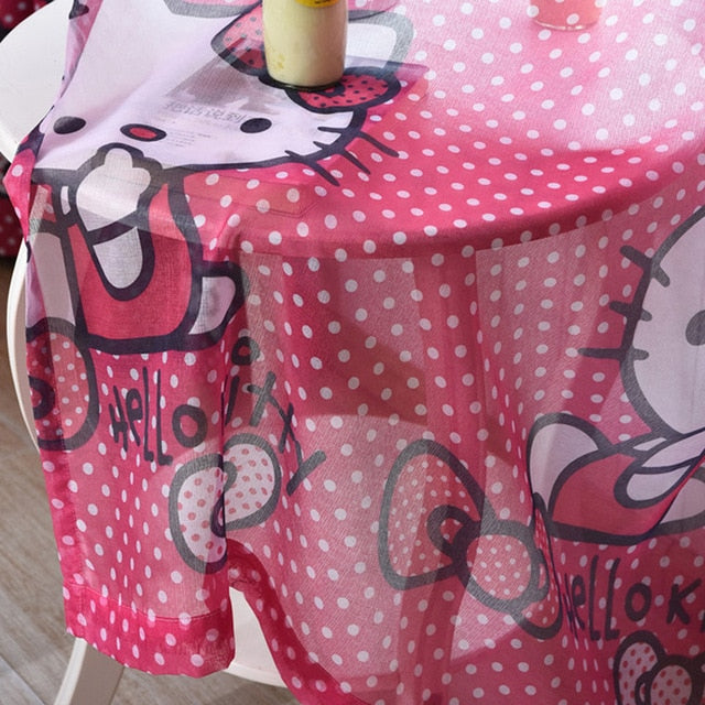 Hello Kitty Curtains Tulle for Windows or Doors