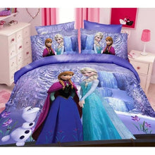 Frozen sisters Ana Elsa and Olaf on All Purple Scenery