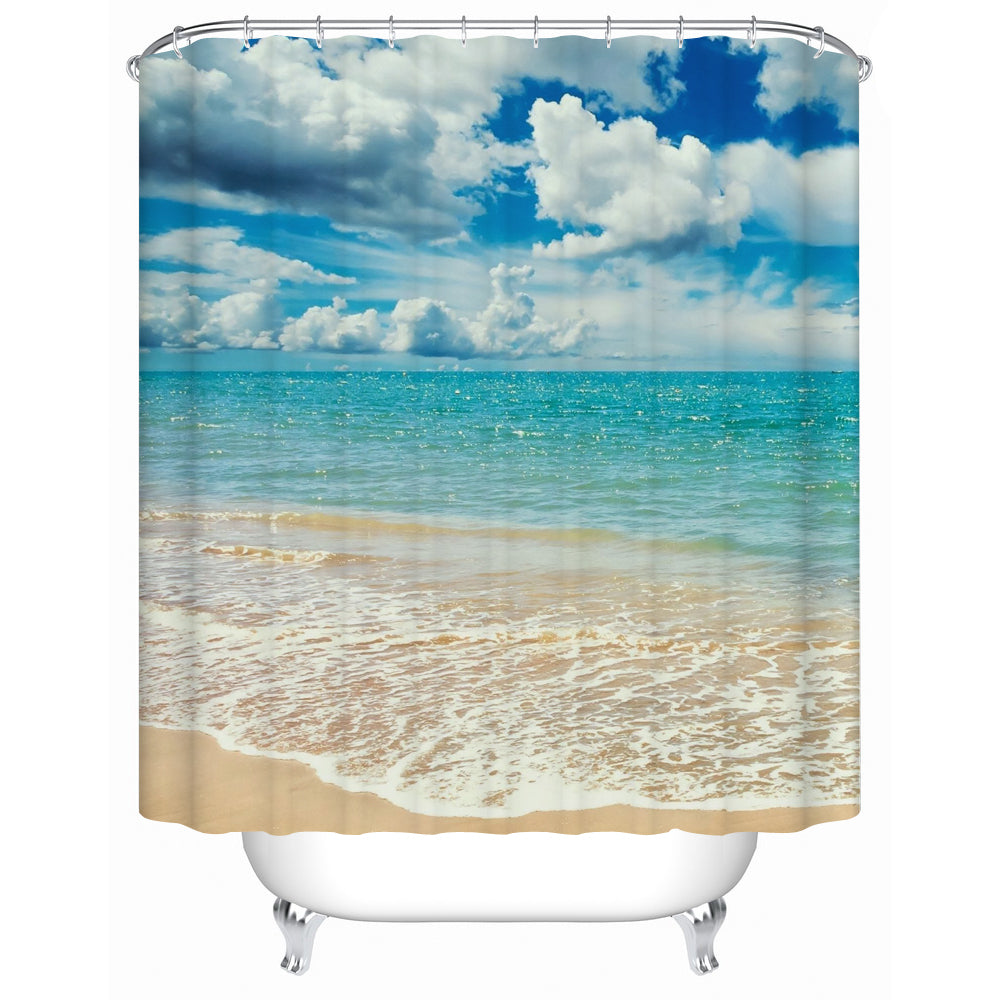 Beautiful Shower Tub Curtains with Ocean View – thewhiteroseusa