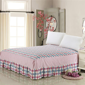 Pure Cotton Ruffled Drop Full Bed skirt Twin Queen King Size Bedcover Lifeng Home Textile Bedsheet Reactive Printing Bedspread 1