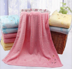 Musical Kitten Super Soft Bamboo Cotton Bath Towel for Kids