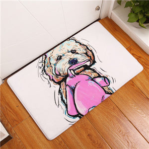 Cute Animal (Dog) Floor Rugs | Bath Mats - The White Rose USA