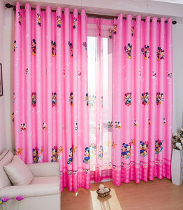 Minnie Mouse Tulle Curtain in a Room Setting