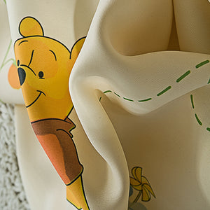 Close up view of Tiger and Pooh Disney Window Curtain - Front View
