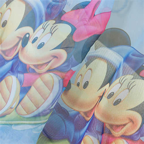 Disney Mickey and Minnie Blue Tulle Window Curtain for Kids Boys Girls Room
