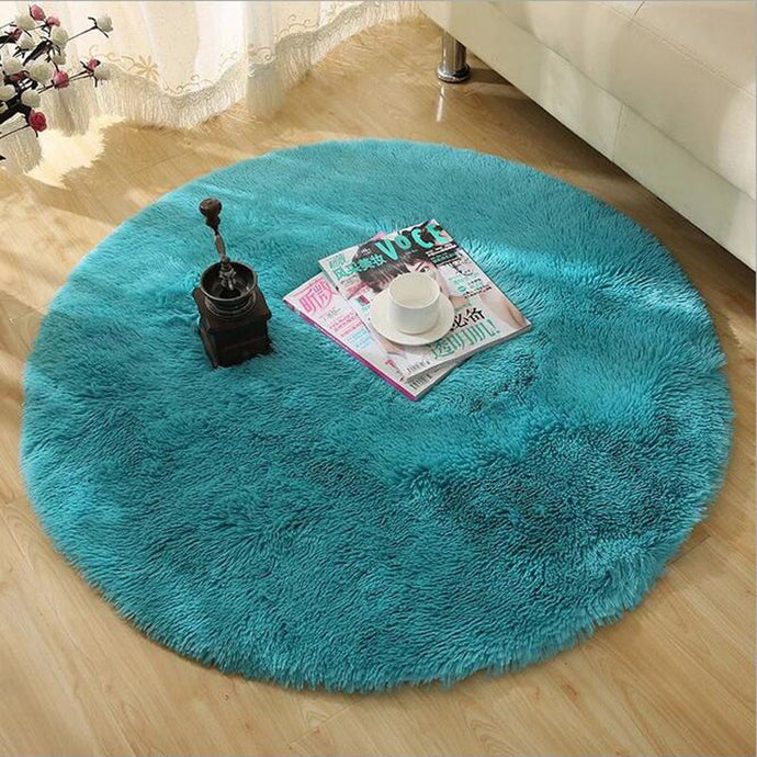 Soft Fluffy Thick Velvet Round Carpet, (3 sizes - 40cm, 60cm, 80cm) Anti-slip/skid, Floor Mat - The White Rose USA