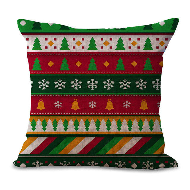 Square-Printed-Pillowcase-with-christmas-color-red-and-green-stripes