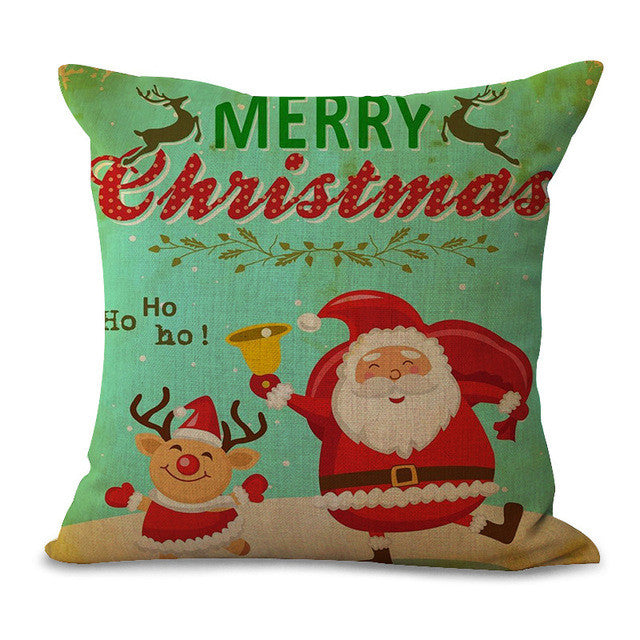 Christmas Pillow Cases and Cushion Covers - Santa Greets
