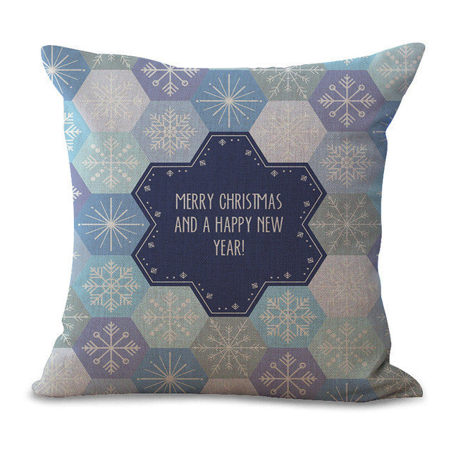 Christmas Pillow Cases and Cushion Covers - Greeting Star