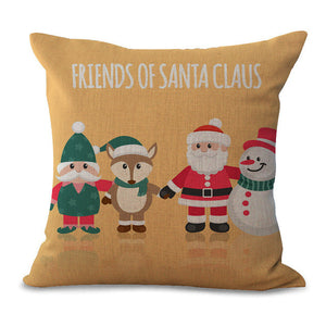 Christmas Pillow Cases and Cushion Covers - Santa and Friends
