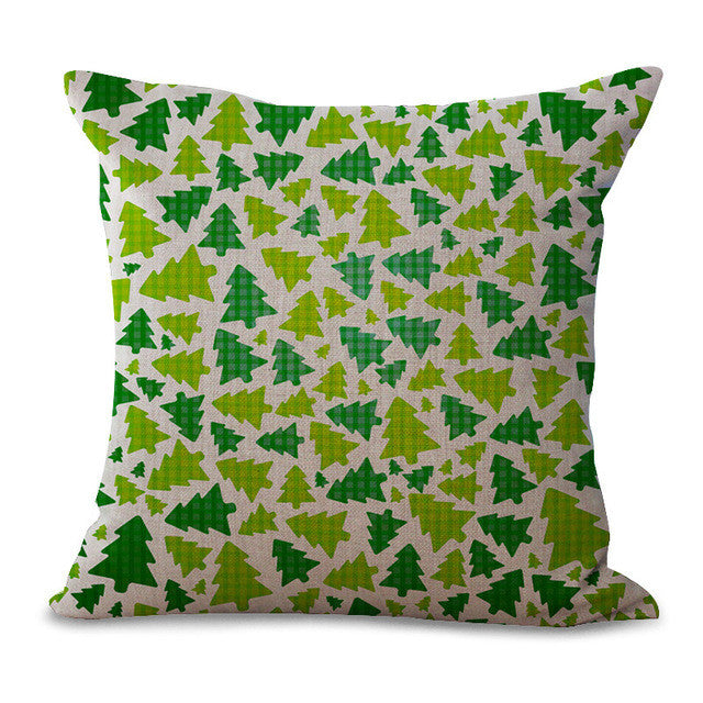 Christmas Pillow Cases and Cushion Covers - Trees