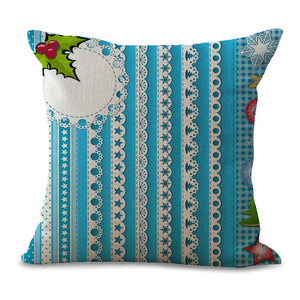 Christmas Pillow Cases and Cushion Covers - Ice Strings