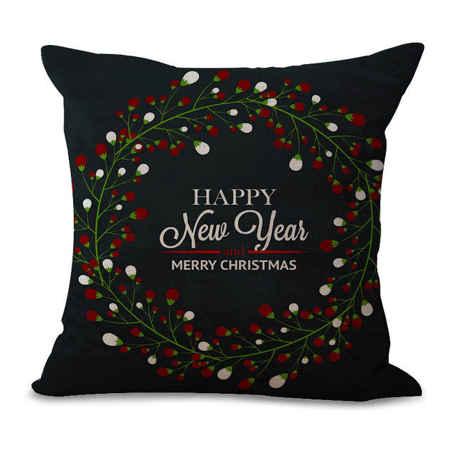Christmas Pillow Cases and Cushion Covers - Greeting Lights