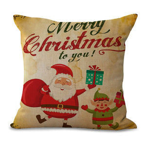 Christmas Pillow Cases and Cushion Covers - Santa Greetings