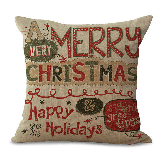 Christmas Pillow Cases and Cushion Covers - Text Greeting