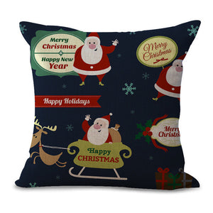 Christmas Pillow Cases and Cushion Covers - Cute Santa