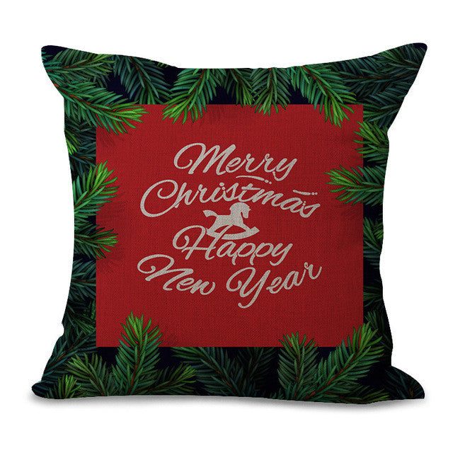 Christmas Pillow Cases and Cushion Covers - Greeting Leaves