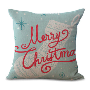 Christmas Pillow Cases and Cushion Covers - Sock Greeting