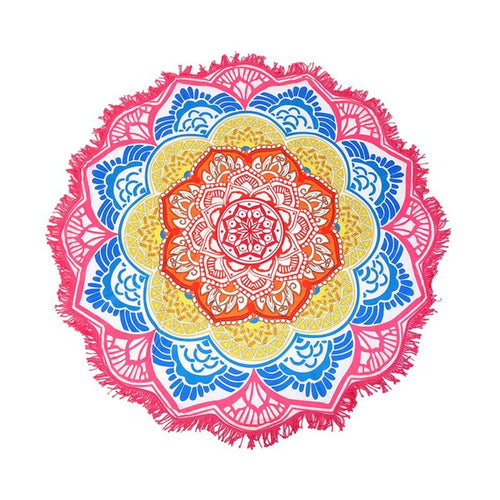 Pink Lotus Beach Shawl | Beach Mat