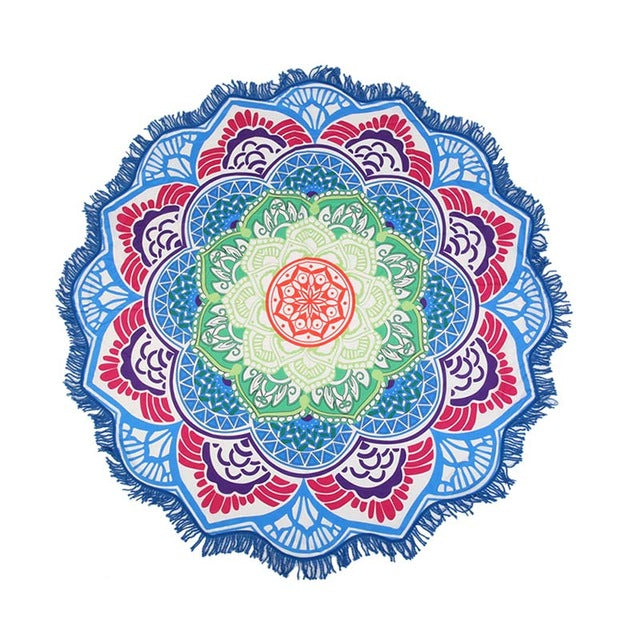 Blue Lotus Beach Shawl | Beach Mat