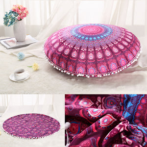 Standard Round Bohemian Cushion Cover I Pillow Case - The White Rose USA