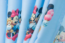 Another Close up view of Blue Mickey Mouse and Minnie Mouse Curtain