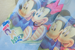 Another Close Up View of Blue Minnie Mouse and Mickey Mouse Tulle