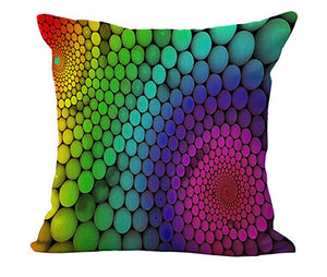 Color Explosion Throw Cushion Cover - Patterns
