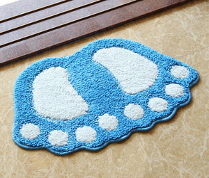 Gorilla Footprint Non Slip Bath Mat or Bath Rug - The White Rose USA