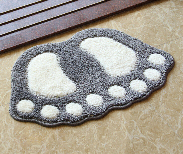 Gorilla Footprint Non Slip Bath Mat Or Bath Rug
