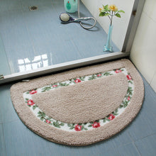 Floral Verge Small Non Slip Bed and Bath Carpets Rugs and Mats