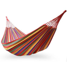 Portable Cotton Fabric Hammock for Camping, Outdoor Recreation