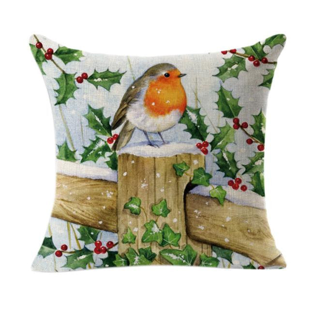 Christmas Linen Square Throw Flax Pillow Case Decorative Pillow Cover pillowcase for the pillow 45*45