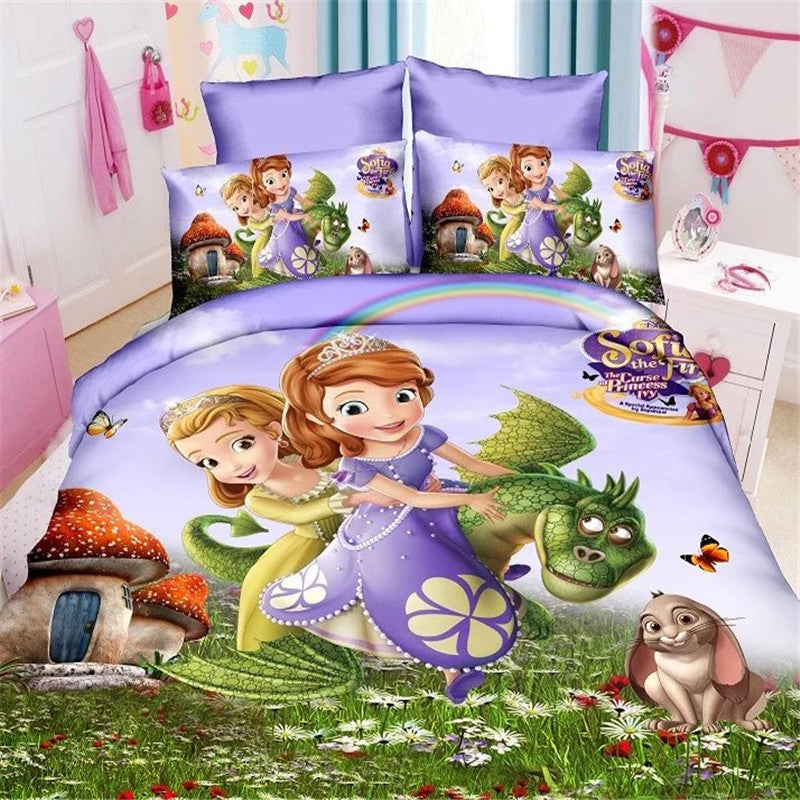 girls bedding ... Disney Mermaid Sofia Princess Girls Bedding Set - Duvet Cover, Bed  Sheet, Pillow Case ...