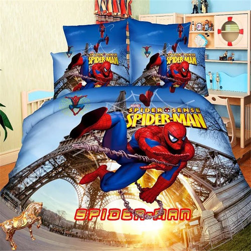 Super Hero Princess Girls Boys Bedding Set Duvet Cover Bed Sheet Pillow Cases