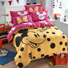 Disney Mickey or Minnie Mouse Bedding Set - Duvet Cover, Bed Sheet. Pillow Cases
