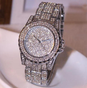 Luxury Fashion Rhinestones Ceramic Crystals Quartz Watch for Women