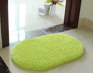 Soft Memory Foam Non-slip Bath Mat and Small Shaggy Rug