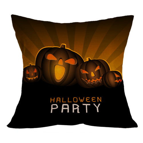 Halloween Pumpkin Heads Square Throw Pillow Case or Cushion Cover
