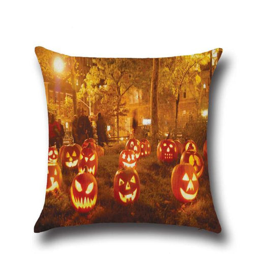 Halloween Pumpkin Heads Party Square Throw Pillow Case or Cushion Cover