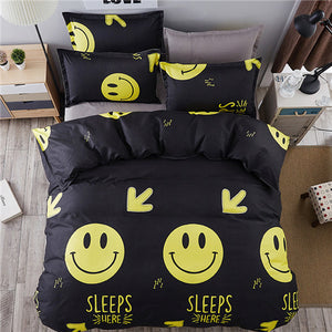 Buy Black Smiling Emoji Bed Set - The White Rose USA