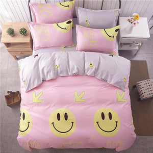 Buy Pink Smiling Emoji Bed Set - The White Rose USA