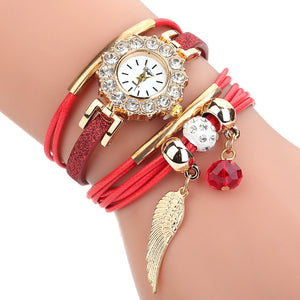 Duoya Luxury Flower Gemstone Quartz Watch for Women
