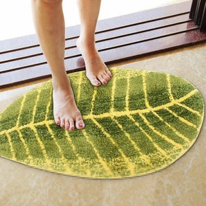 Leaf Shaped Small Door Rug or Mat